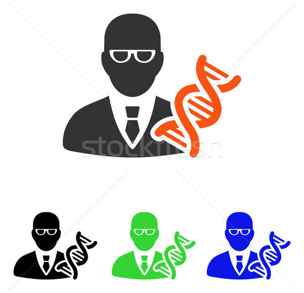 Genetic Engineer Flat Vector Icon Stock photo © ahasoft