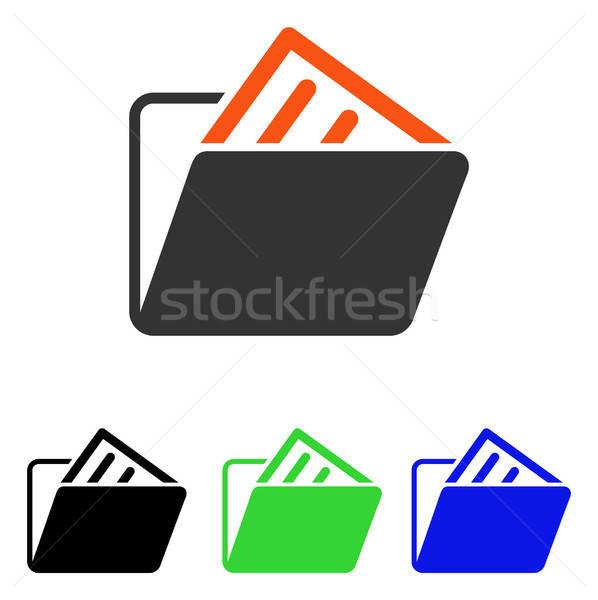 Document Folder Flat Vector Icon Stock photo © ahasoft