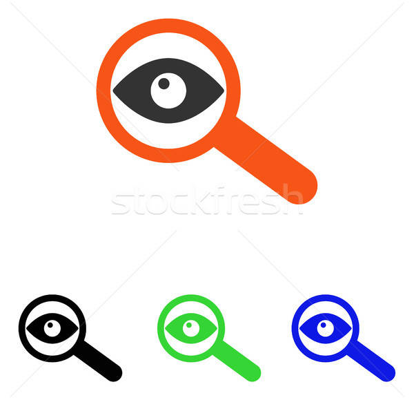 Investigate Flat Vector Icon Stock photo © ahasoft