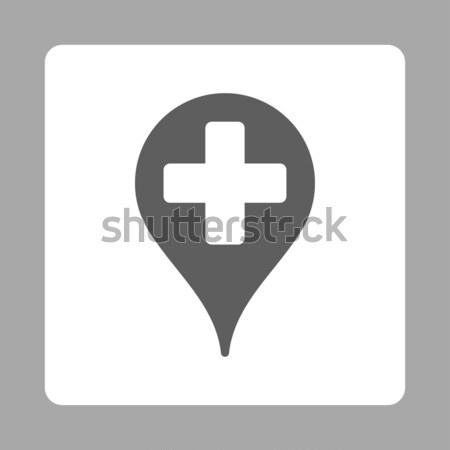 Clinic Map Pointer Flat Vector Icon Stock photo © ahasoft