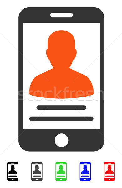 Patient Mobile Account Flat Icon Stock photo © ahasoft
