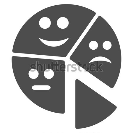 Glad And Sad People Flat Icon Stock photo © ahasoft