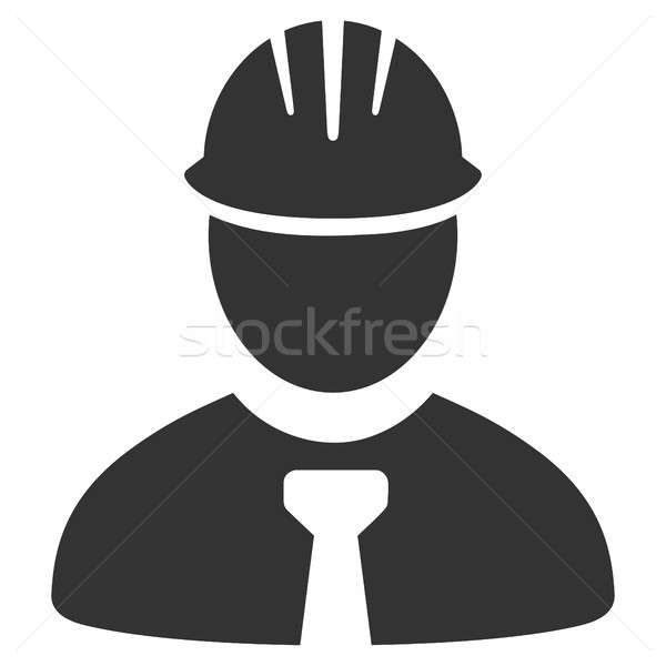 Ingeniero icono pictograma estilo gráfico gris Foto stock © ahasoft