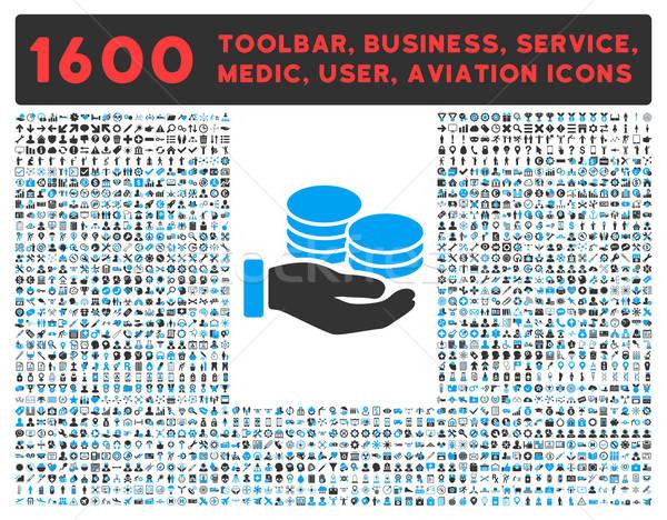 Salario icono grande pictograma colección vector Foto stock © ahasoft
