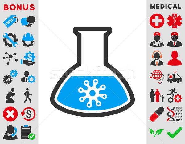 Virus analyse icon vector stijl symbool Stockfoto © ahasoft