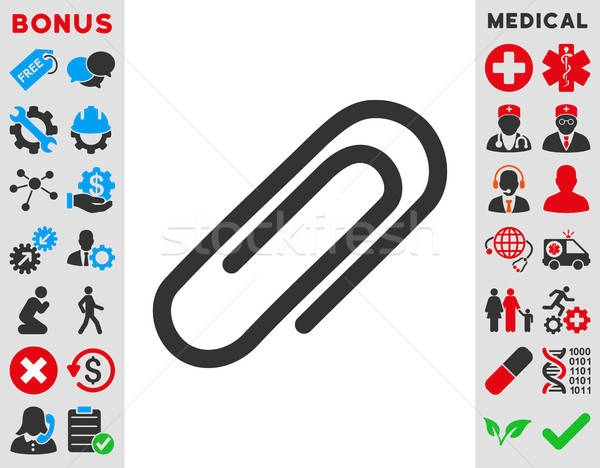Paperclip Icon Stock photo © ahasoft