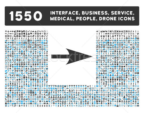 Arrow Axis X Icon and More Interface, Business, Tools, People, Medical, Awards Flat Vector Icons Stock photo © ahasoft