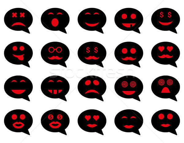 Chat emotion smile icons Stock photo © ahasoft