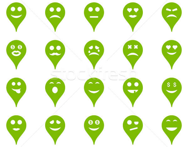 Emotion map marker icons. Stock photo © ahasoft