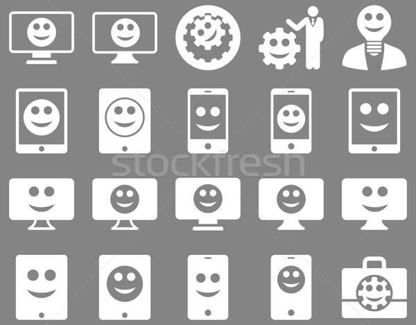 Tools opties glimlacht iconen vector Stockfoto © ahasoft