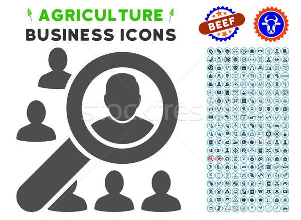 находить пользователь икона сельского хозяйства набор серый Сток-фото © ahasoft