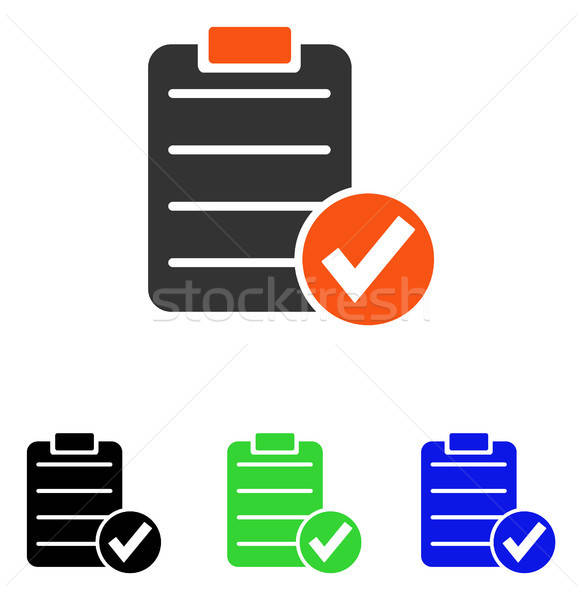 Apply Form Flat Vector Icon Stock photo © ahasoft