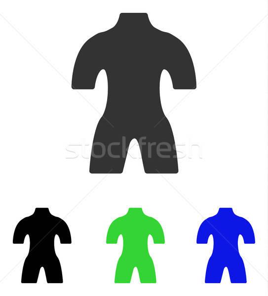 Body Flat Vector Icon Stock photo © ahasoft