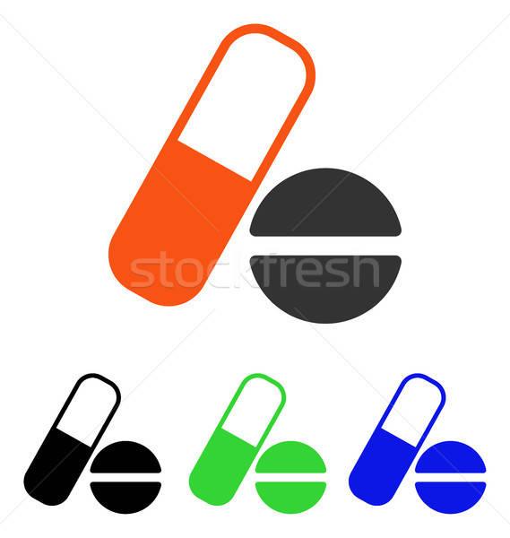 Medication Flat Vector Icon Stock photo © ahasoft