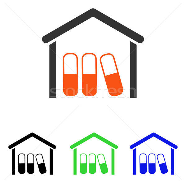 Drugs garage vector icon pictogram illustratie Stockfoto © ahasoft