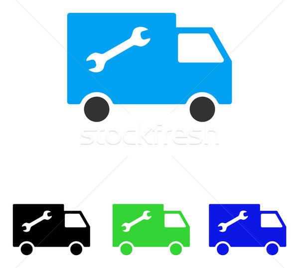 Repair Van Flat Vector Icon Stock photo © ahasoft
