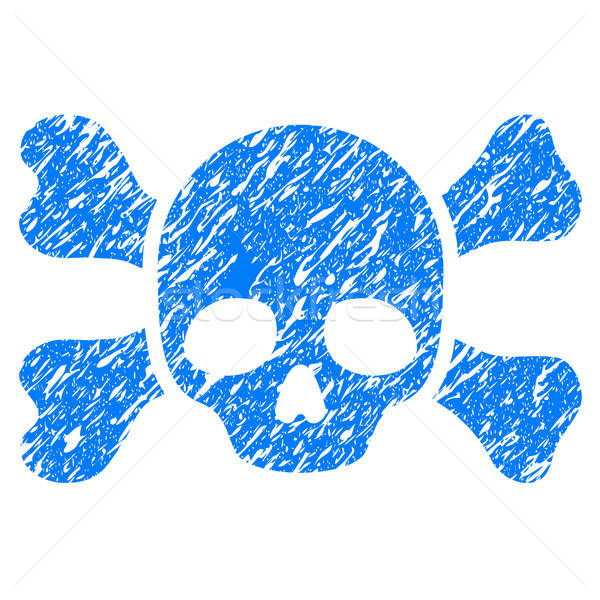 Skull And Bones Grunge Icon Stock photo © ahasoft
