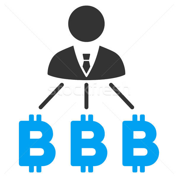 Zakenman bitcoin icon vector toepassing web design Stockfoto © ahasoft