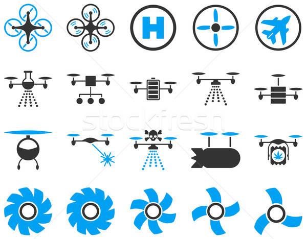 Aria strumento icone stile vettore Foto d'archivio © ahasoft