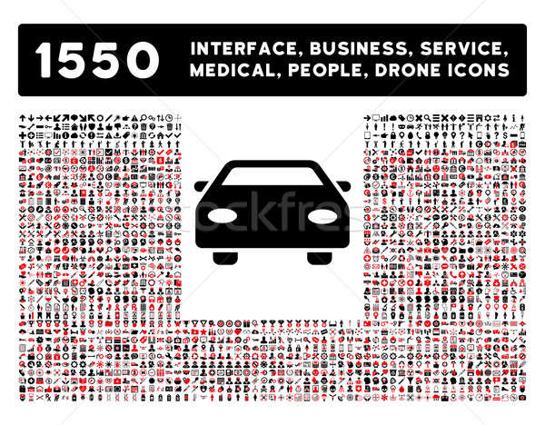 Car Icon and More Interface, Business, Tools, People, Medical, Awards Flat Glyph Icons Stock photo © ahasoft
