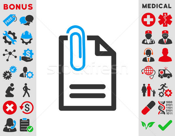 Attach Document Icon Stock photo © ahasoft