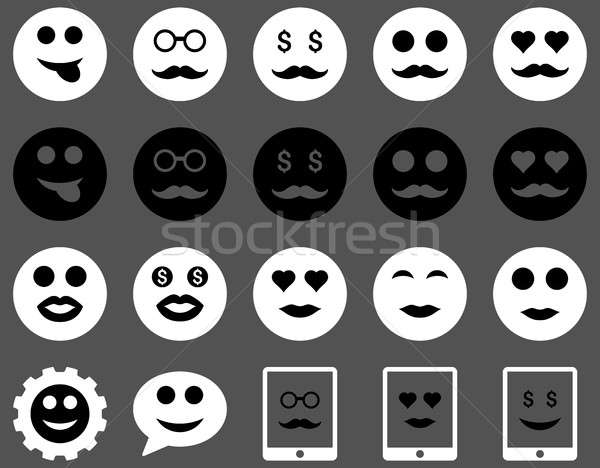 Stok fotoğraf: Gülümseme · duygu · simgeler · ayarlamak · stil