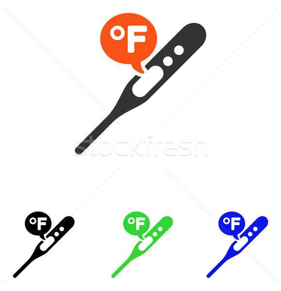 Fahrenheit Temperature Flat Vector Icon Stock photo © ahasoft