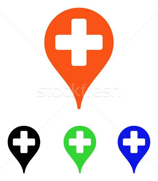 медицинской карта маркер вектора икона пиктограммы Сток-фото © ahasoft