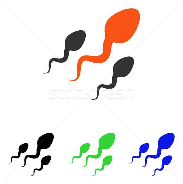 Spermatozoïdes vecteur icône pictogramme illustration style Photo stock © ahasoft