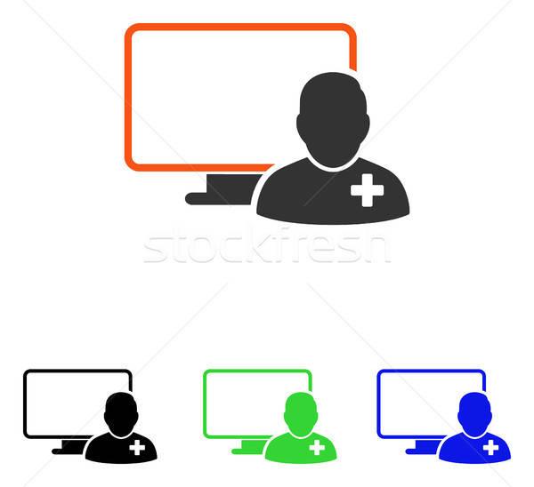 On-line médico vetor ícone ilustração estilo Foto stock © ahasoft