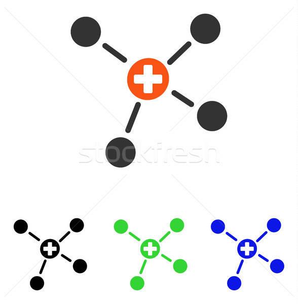 Gyógyszer linkek vektor ikon illusztráció stílus Stock fotó © ahasoft