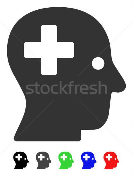 Plus Head Flat Icon Stock photo © ahasoft