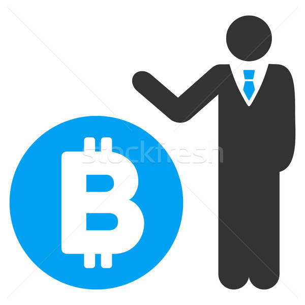 Bitcoin bankier icon vector toepassing web design Stockfoto © ahasoft
