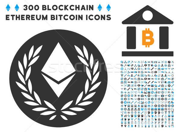 Babér érme ikon gyűjtemény bitcoin okos szerződés Stock fotó © ahasoft