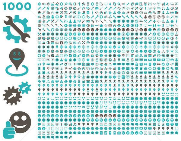 1000 herramientas artes sonrisas mapa móviles Foto stock © ahasoft