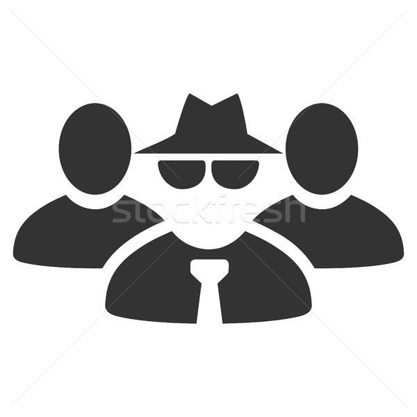 Maffia mensen groep icon vector stijl Stockfoto © ahasoft