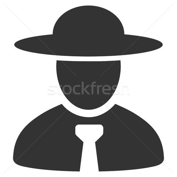 Jefe icono vector estilo gráfico gris Foto stock © ahasoft