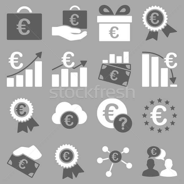 ストックフォト: ユーロ · 銀行 · ビジネス · サービス · ツール · アイコン