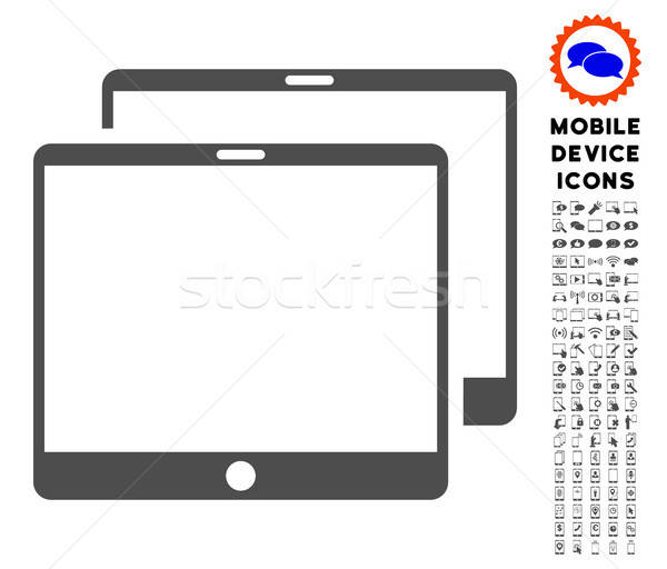 Mobile Tabs Icon with Set Stock photo © ahasoft