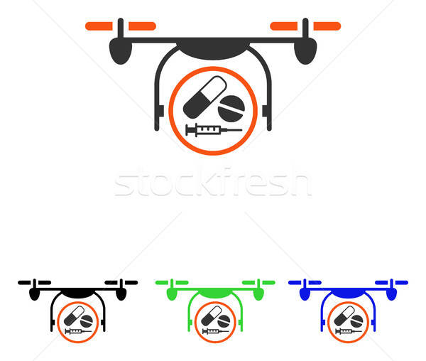 Medication Quadcopter Flat Vector Icon Stock photo © ahasoft