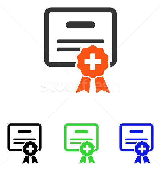 Medical Certification Flat Vector Icon Stock photo © ahasoft