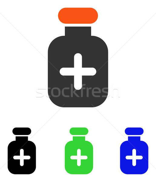 Medication Vial Flat Vector Icon Stock photo © ahasoft