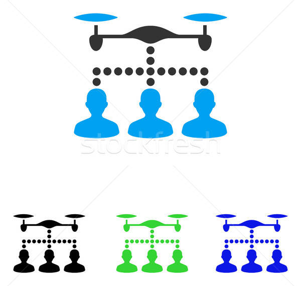 Drone Clients Connection Flat Vector Icon Stock photo © ahasoft
