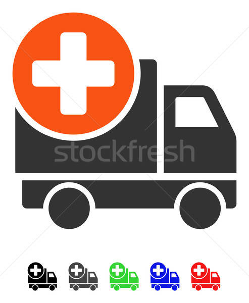 Medical Delivery Flat Icon Stock photo © ahasoft