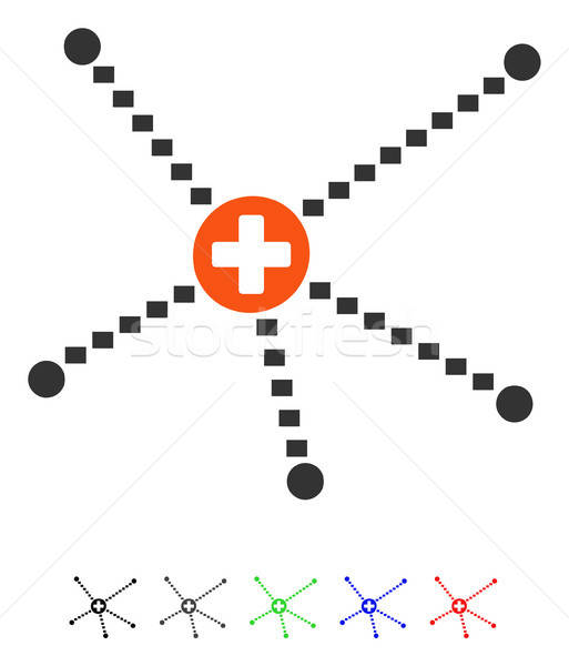 Tıbbi ilişkileri ikon vektör renkli renk Stok fotoğraf © ahasoft