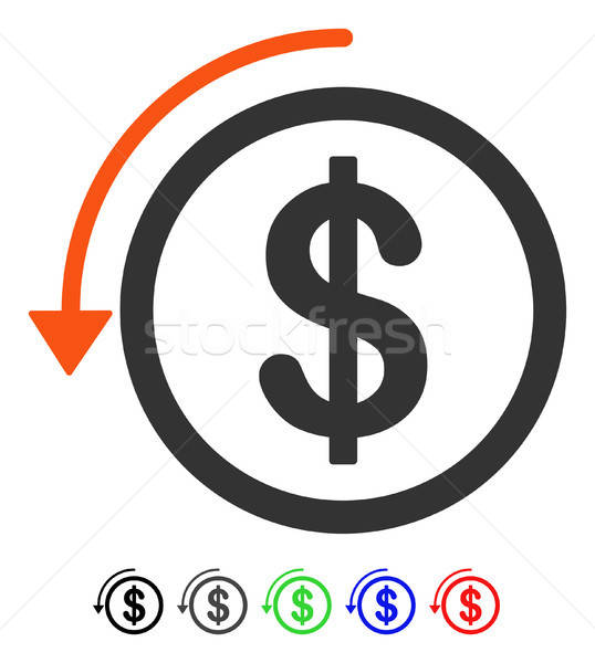 Refund Flat Icon Stock photo © ahasoft