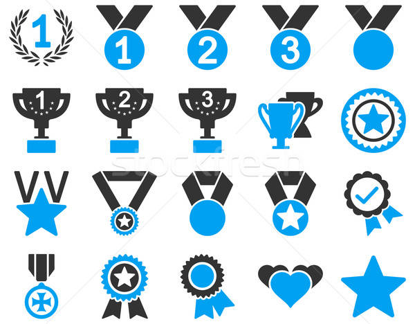 Competition and Success Bicolor Icons Stock photo © ahasoft