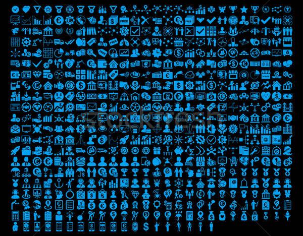Stock fotó: Alkalmazás · ikonok · kék · szín · vektor · képek