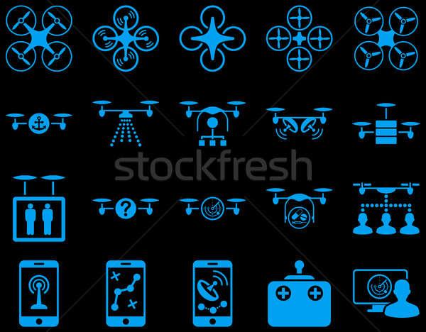 Aire herramienta iconos estilo Foto stock © ahasoft