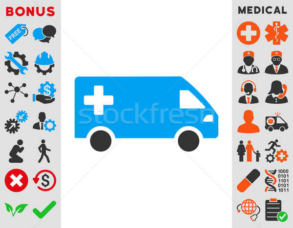 Awaryjne van ikona stylu symbol niebieski Zdjęcia stock © ahasoft